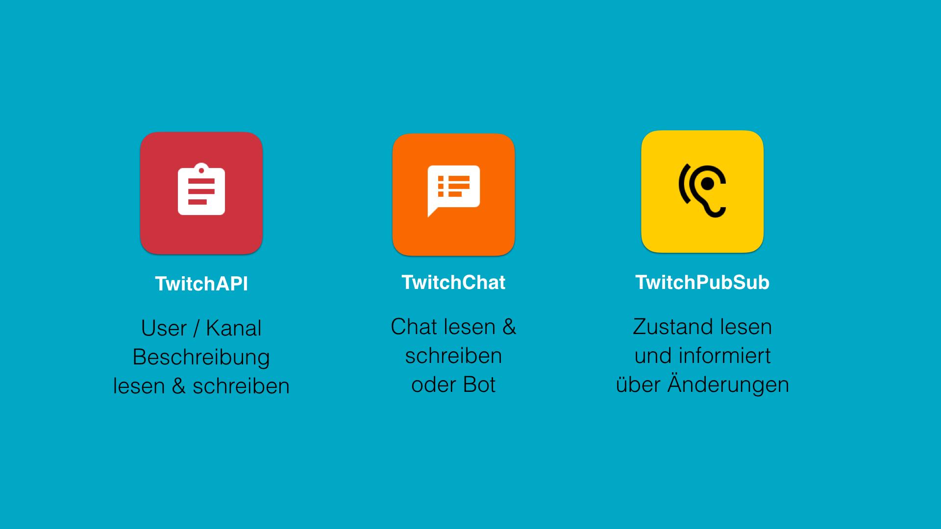 TwitchAPI, TwitchChat und TwitchPubSub