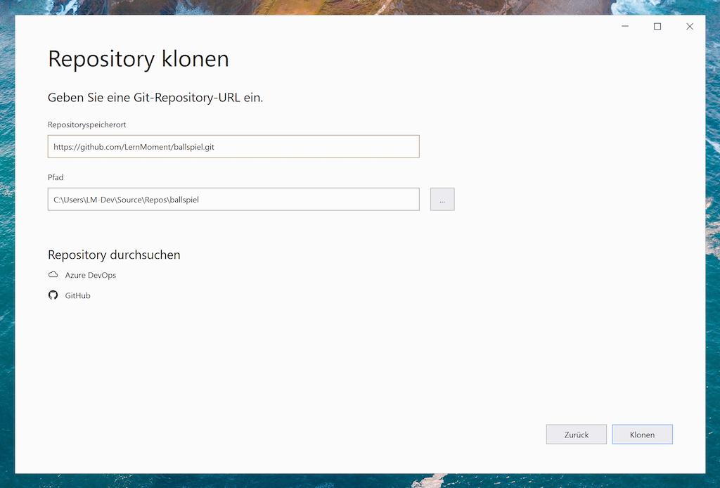 Repository klonen