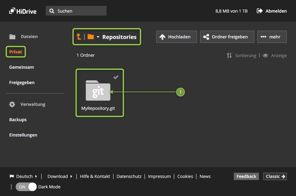 HiDrive - das neue MyRepository.git