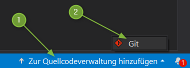 VS2019 - Zur Quellcodeverwaltung hinzufügen
