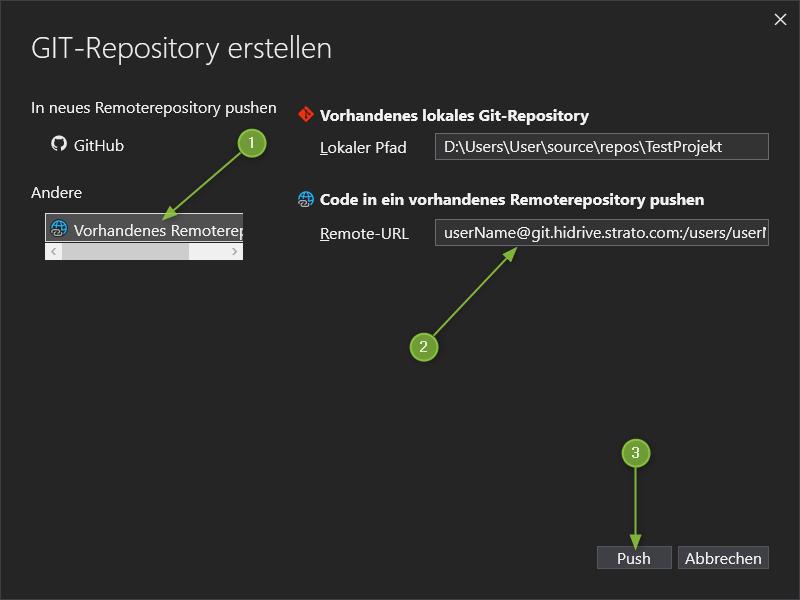 VS2019 - GIT-Repository erstellen