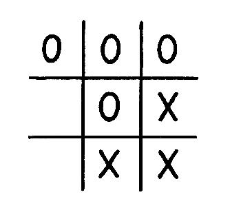 Bild eines Tic-Tac-Toe Spiels